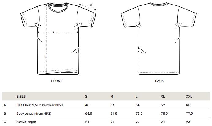 STTM546 sizes